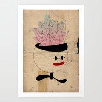 palla con piramidi in testa Art Print
