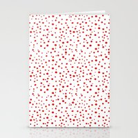 PolkaDots-Red on White Stationery Cards