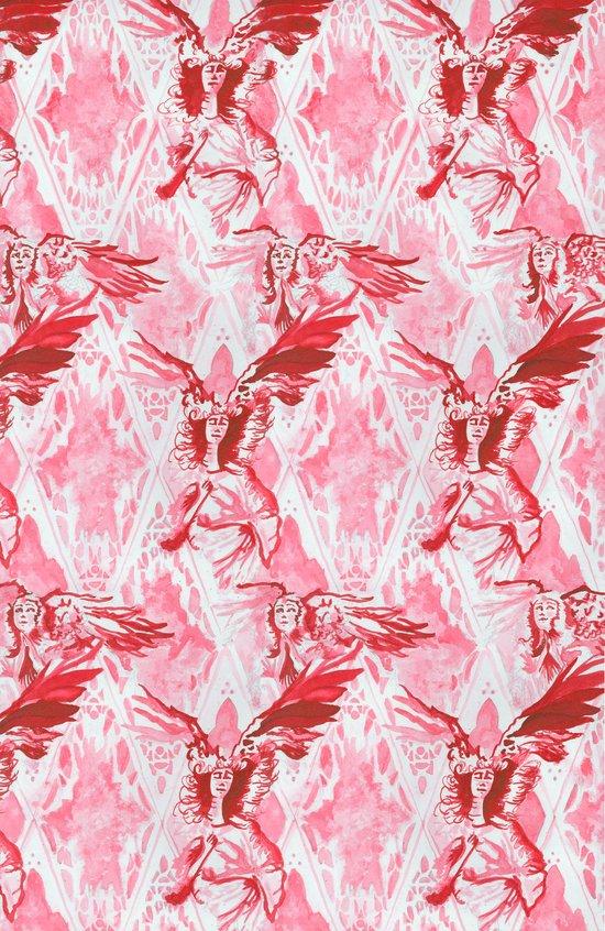 Guardian Angel (Red) Art Print