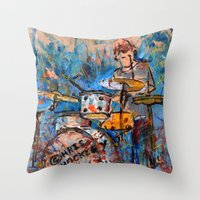 RHYTHMIC NOISE Throw Pillow