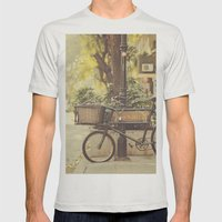 Bike I Mens Fitted Tee Silver SMALL