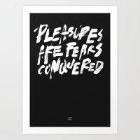 PLEASURES Art Print