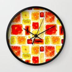 Juicy Cubism Wall Clock