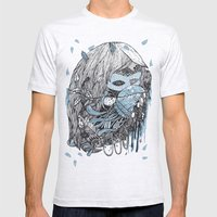 mermaid Mens Fitted Tee Ash Grey SMALL