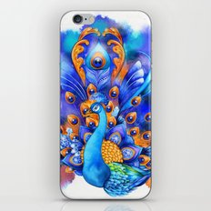 Sapphire and Gold Peacock  iPhone & iPod Skin