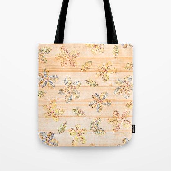 Floral stamp Tote Bag