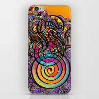 CALLIGRAPHIC LETTER TO A FLOWER iPhone & iPod Skin
