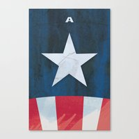 Captain America Minimal Canvas Print