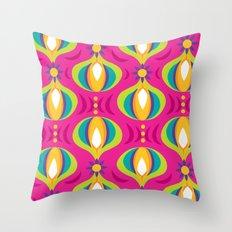 Oohladrop Fuschia Throw Pillow