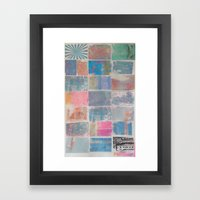 FADED COLORS Framed Art Print