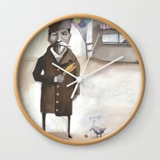 Alferd Packer's Uneaten Corn Dog Wall Clock