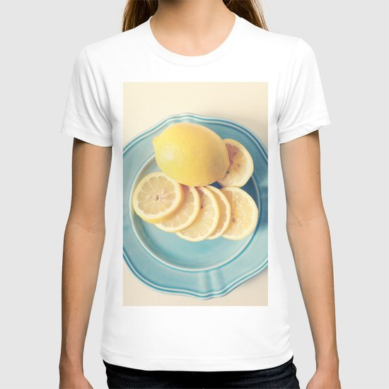Lemons on Blue T-shirt