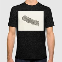 Nepal Mens Fitted Tee Tri-Black SMALL