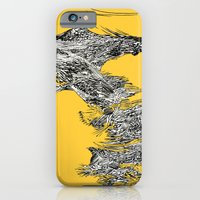 iPhone & iPod Case featuring Waterfall in Yellow by Maddie Wainwright