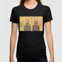 Bearded Men Womens Fitted Tee Tri-Black SMALL