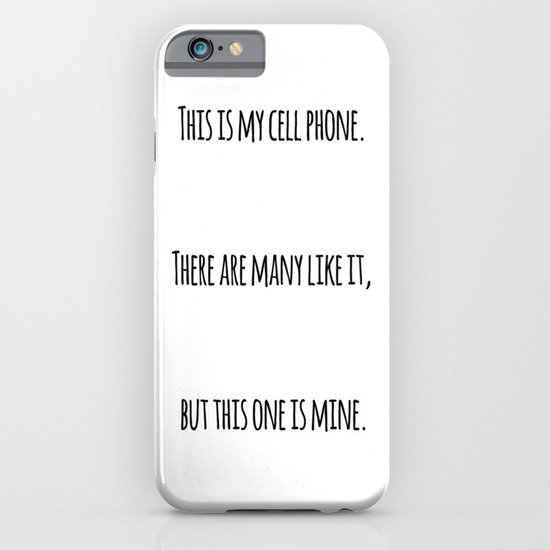 Cell Phone Cover White iPhone & iPod Case