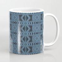Blue Doodle Geometry  Mug