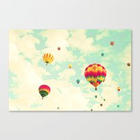 Mint Sky To Fly In Canvas Print