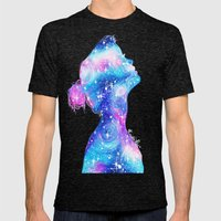 Galaxy Girl Mens Fitted Tee Tri-Black SMALL