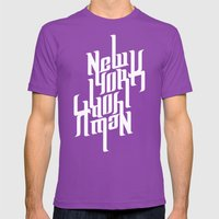 NEW YORK Mens Fitted Tee Ultraviolet SMALL