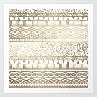 Modern Faux Gold Foil Az… Art Print