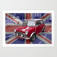British Classic Mini car Art Print