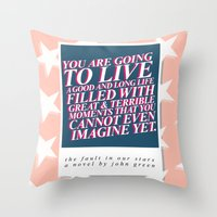 Imagine Yet Throw Pillow