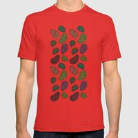420 Nug Pattern Mens Fitted Tee Red SMALL