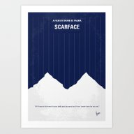 No158 My SCARFACE Minima… Art Print