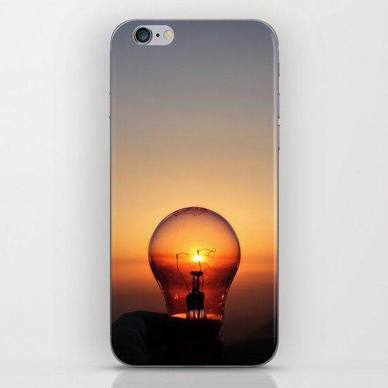 Shine a light iPhone & iPod Skin