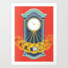 Wasting Time Online Art Print