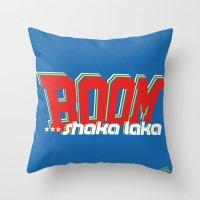 Boom Shaka Laka! Throw Pillow