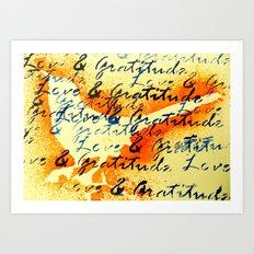 Love and Gratitude Art Print