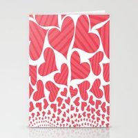 Bursting Hearts Stationery Cards