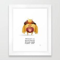 Monster Diets No.2 Framed Art Print