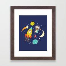 Space Critters Framed Art Print
