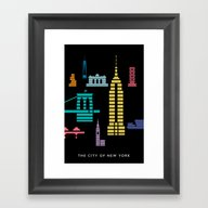 New York Skyline Empire … Framed Art Print