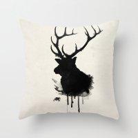 Elk - Deer Throw Pillow