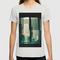 Window Cubism. Womens Fitted Tee Silver SMALL