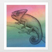 Chameleon (3) Art Print