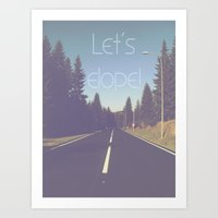 Let's elope! Art Print