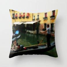 Venice Gondola 1 Throw Pillow