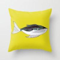 Whale, whale art, whale illustration, art, illustration, design, animal, whales, print, Throw Pillow