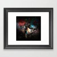 Lady Wolf  Framed Art Print