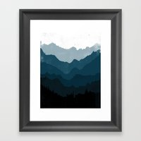 Mists No. 6 - Ombre Blue… Framed Art Print