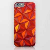 iPhone & iPod Case featuring Geometric Epcot by Josrick