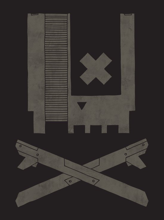 Nes Skull Art Print
