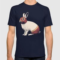 Lapin Catcheur (Rabbit W… Mens Fitted Tee Navy SMALL