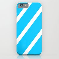 iPhone & iPod Case featuring Blue & White Stripes by Jorieanne