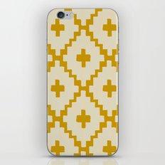 Navajo Diamonds Ivory on Gold iPhone & iPod Skin